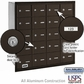 Salsbury 3620ZRU 4B Mailboxes 19 Tenant Doors Rear Loading - USPS Access