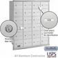 Salsbury 3624ARU 4B Mailboxes 23 Tenant Doors Rear Loading - USPS Access