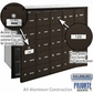 Salsbury 3625ZFP 4B Mailboxes 24 Tenant Doors Front Loading - Private Access