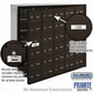 Salsbury 3630ZFP 4B Mailboxes 29 Tenant Doors Front Loading - Private Access