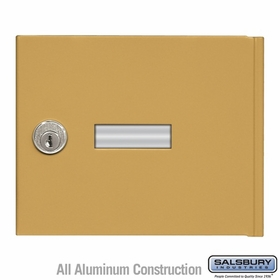 Salsbury 3651GLD 4B+ Mailbox Replacement Door and Lock with 2 Keys
