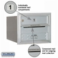 Salsbury 3703S-01ARP 4C Mailboxes 1 Tenant Doors Rear Loading