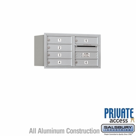 Salsbury 3704D-06ARP 4C Mailboxes 6 Tenant Doors Rear Loading
