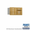 Salsbury 3704D-06GRP 4C Mailboxes 6 Tenant Doors Rear Loading