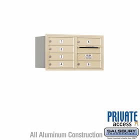 Salsbury 3704D-06SRP 4C Mailboxes 6 Tenant Doors Rear Loading