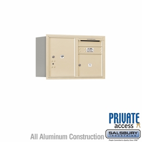 Salsbury 3705D-01SRP 4C Mailboxes 1 Tenant Doors Rear Loading