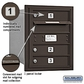 Salsbury 3705S-03ZRU 4C Mailboxes 3 Tenant Doors Rear Loading
