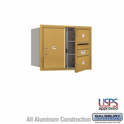 Salsbury 3706D-02GFU 4C Mailboxes 2 Tenant Doors Front Loading