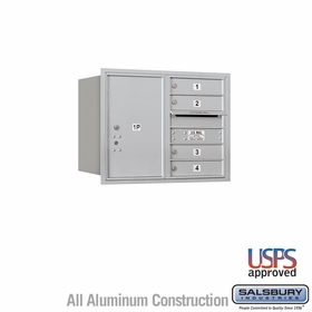Rear Loading Horizontal Mailboxes 3 to 4 Doors