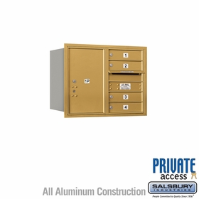 Salsbury 3706D-04GRP 4C Mailboxes 4 Tenant Doors Rear Loading