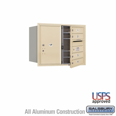 Salsbury 3706D-04SFU 4C Mailboxes 4 Tenant Doors Front Loading