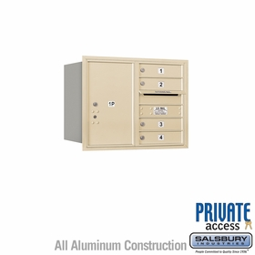 Salsbury 3706D-04SRP 4C Mailboxes 4 Tenant Doors Rear Loading