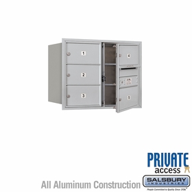 Salsbury 3706D-05AFP 4C Mailboxes 5 Tenant Doors Front Loading