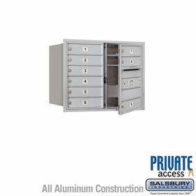 Salsbury 3706D-09AFP 4C Mailboxes 9 Tenant Doors Front Loading
