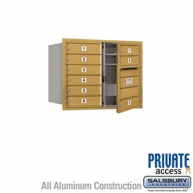 Salsbury 3706D-09GFP 4C Mailboxes 9 Tenant Doors Front Loading