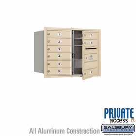 Salsbury 3706D-09SFP 4C Mailboxes 9 Tenant Doors Front Loading