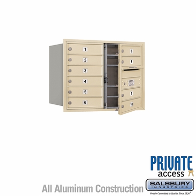 Salsbury 3706D-10SFP 4C Mailboxes 10 Tenant Doors Front Loading