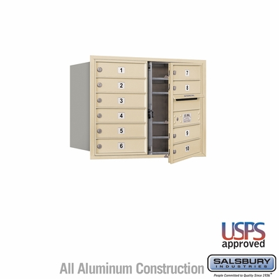 Salsbury 3706D-10SFU 4C Mailboxes 10 Tenant Doors Front Loading