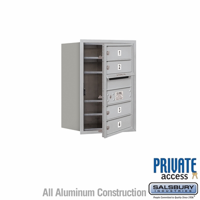 Salsbury 3706S-04AFP 4C Mailboxes 4 Tenant Doors Front Loading