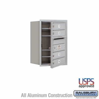 Salsbury 3706S-04AFU 4C Mailboxes 4 Tenant Doors Front Loading