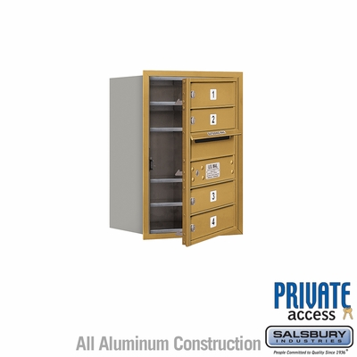 Salsbury 3706S-04GFP 4C Mailboxes 4 Tenant Doors Front Loading