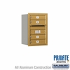 Salsbury 3706S-04GRP 4C Mailboxes 4 Tenant Doors Rear Loading