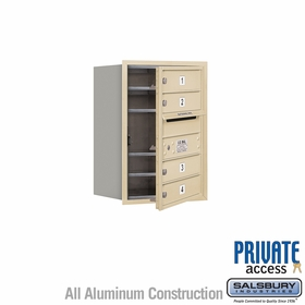 Salsbury 3706S-04SFP 4C Mailboxes 4 Tenant Doors Front Loading