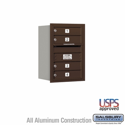 Salsbury 3706S-04ZRU 4C Mailboxes 4 Tenant Doors Rear Loading