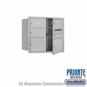 Salsbury 3707D-05AFP 4C Mailboxes 5 Tenant Doors Front Loading