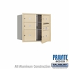 Salsbury 3707D-05SFP 4C Mailboxes 5 Tenant Doors Front Loading