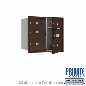 Salsbury 3707D-05ZFP 4C Mailboxes 5 Tenant Doors Front Loading