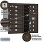 Salsbury 3707D-12ZFP 4C Mailboxes 12 Tenant Doors Front Loading