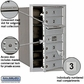 Salsbury 3707S-05AFP 4C Mailboxes 5 Tenant Doors Front Loading