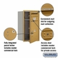 Salsbury 3707S-1PGFP 4C Mailboxes 1 Parcel Locker Front Loading