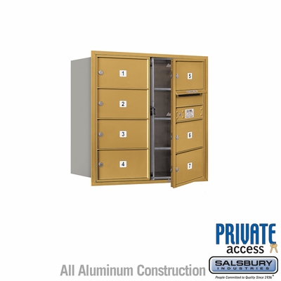 Salsbury 3708D-07GFP 4C Mailboxes 7 Tenant Doors Front Loading