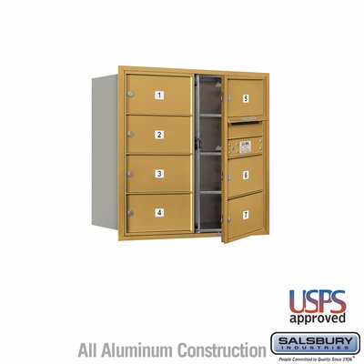 Salsbury 3708D-07GFU 4C Mailboxes 7 Tenant Doors Front Loading