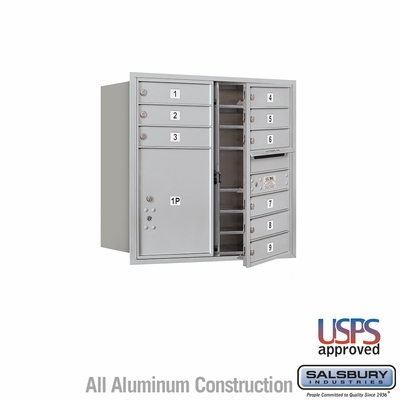 Salsbury 3708D-09AFU 4C Mailboxes 9 Tenant Doors Front Loading