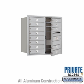 Salsbury 3708D-13AFP 4C Mailboxes 13 Tenant Doors Front Loading