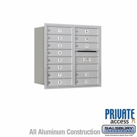 Salsbury 3708D-13ARP 4C Mailboxes 13 Tenant Doors Rear Loading