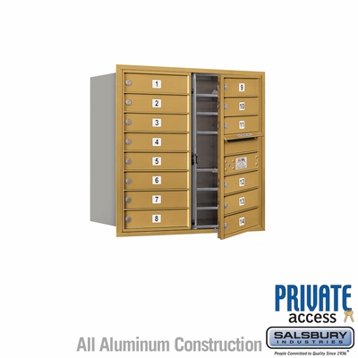Salsbury 3708D-14GFP 4C Mailboxes 14 Tenant Doors Front Loading