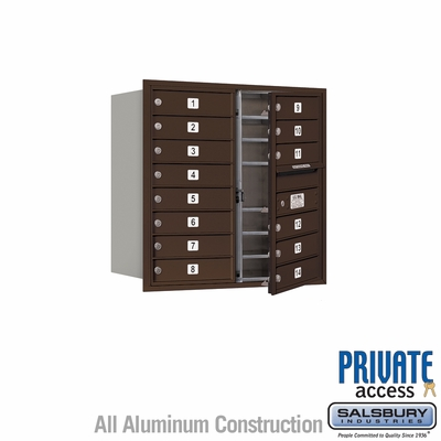 Salsbury 3708D-14ZFP 4C Mailboxes 14 Tenant Doors Front Loading