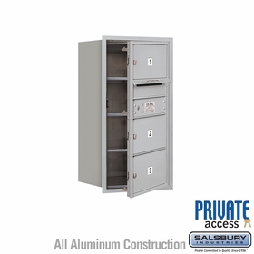 Salsbury 3708S-03AFP 4C Mailboxes 3 Tenant Doors Front Loading