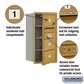 Salsbury 3708S-03GFP 4C Mailboxes 3 Tenant Doors Front Loading
