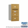 Salsbury 3708S-03GRP 4C Mailboxes 3 Tenant Doors Rear Loading
