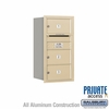 Salsbury 3708S-03SRP 4C Mailboxes 3 Tenant Doors Rear Loading