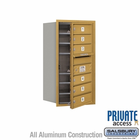 Salsbury 3708S-06GFP 4C Mailboxes 6 Tenant Doors Front Loading