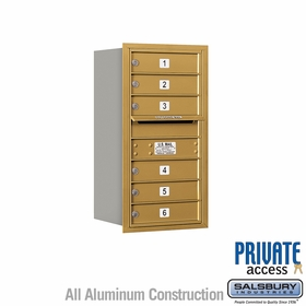 Salsbury 3708S-06GRP 4C Mailboxes 6 Tenant Doors Rear Loading