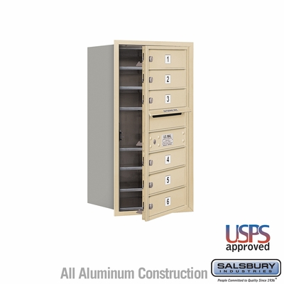 Salsbury 3708S-06SFU 4C Mailboxes 6 Tenant Doors Front Loading