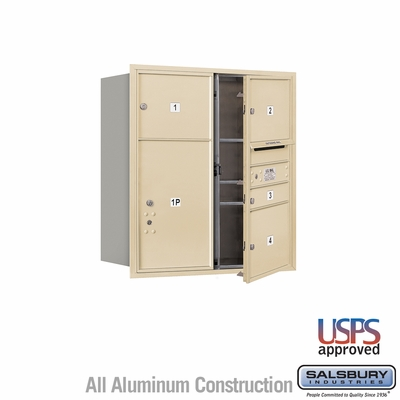 Salsbury 3709D-04SFU 4C Mailboxes 4 Tenant Doors Front Loading