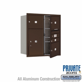 Salsbury 3709D-04ZFP 4C Mailboxes 4 Tenant Doors Front Loading